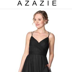 Azazie Floor Length Black Gown